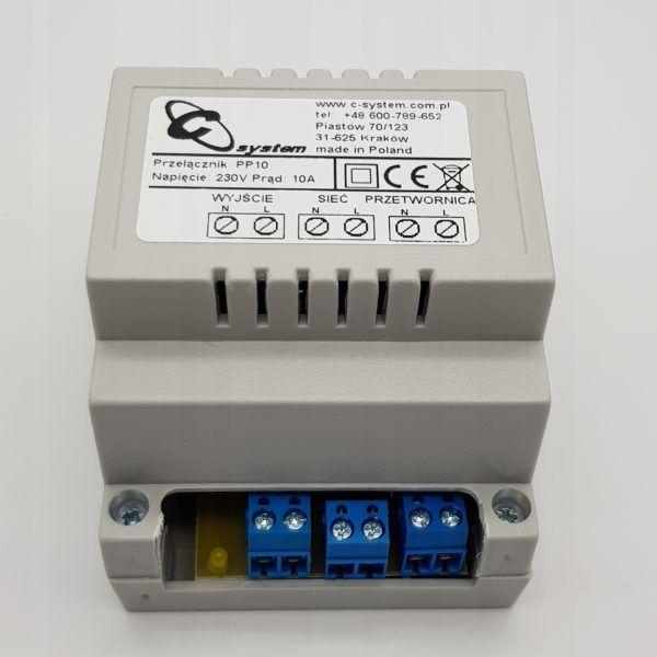 Przełącznik zasilania sieć / przetwornica 230 V 10 A PP 10