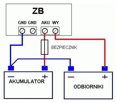 Zabezpieczenie aku. 24 V przed rozładowaniem ZB 80