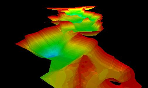 Mapa batymetryczna Jeziora Raduńskiego